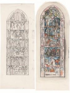 Entwurfszeichnungen für die Stadtkirche in Rehau (Fotos: Privatarchiv Krauss, Kasberger)