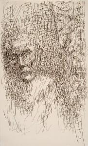 """Der Federstrich im Selbstporträt als Psychogramm: """"Der Andere in mir, der sich Ärgernde, der ewig Unruhige, der Störer, der Wegelagerer hat mir wieder aufgelauert …"""""""