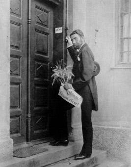 Fotografie von 1879: Oskar von Miller macht seinen Antrittsbesuch im Hause Seitz