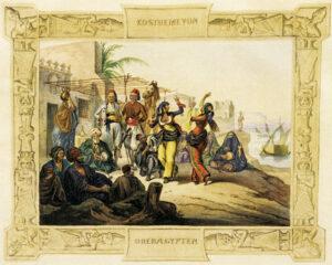 """Den von seinem """"Reisemaler"""" Heinrich von Mayr dargestellten Bauchtanz in Oberägypten fand der Herzog """"schamlos und abstoßend""""."""