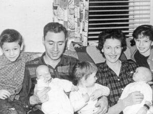 Alfred Koppel in den 1960er Jahren in Amerika mit seiner Frau Jean und ihren fünf Kindern.