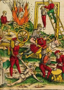 Die vielfältigen Aufgaben des Scharfrichters werden in diesem alten Stich dargestellt.
