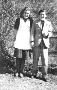 Judith Hirsch und ihr Freund Erwin Weil an Ostern 1942 (Foto: Judy Rosenberg)