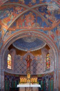 Altarchor und Hochaltar der Herz-Jesu-Kirche in Ludwigsthal (Foto: Werner Schäfer)