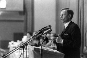 Georg Kronawitter nach seiner Nominierung zum Nachfolger Hans-Jochen Vogels bei der Münchner SPD, 17. Mai 1971