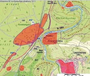 Details eines Waldgebiets in der Nähe von Leutstetten, Kreis Starnberg in Oberbayern (Foto: Landesamt für Digitalisierung, Breitband und Vermessung Bayern)