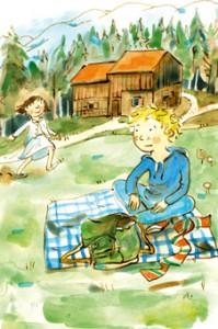 Die Abenteuer von Max und Emily im Freilichtmuseum an der Glentleiten wurden von Martina Mair liebevoll illustriert.