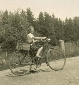 Rita mit Fahrrad