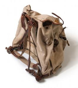 Auf der Flucht erwies sich der Rucksack als unentbehrlicher Begleiter.