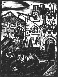 Die Mönche aus dem Kloster Tegernsee flehen und zetern umsonst: Die Raubritter vom Fischerfleck haben den Abt im Käfig und wollen ihn nur gegen einen gewaltigen Haufen Gulden eintauschen.