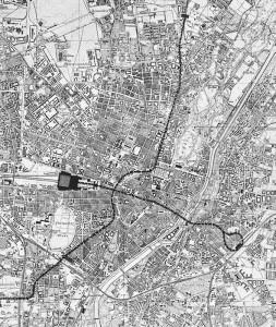 Unter dem Bahnhofsvorplatz sollte ein unterirdischer Vorortbahnhof gebaut werden, der zugleich den Anschluss für eine später zu realisierende U-Bahn bilden sollte. Meitinger plante zwei U-Bahn-Trassen in Nord-Süd- und Ost-West-Richtung