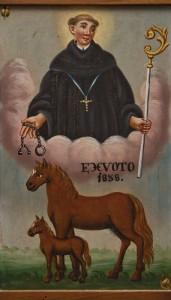 Votivbild mit dem heiligen Leonhard in der Kirche von Bauerbach (Foto: Hubert Mayer)