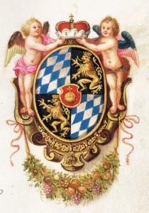 Das Wappen von Herzog Maximilian I., ab 1623 Kurfürst von Bayern: Er war neben dem Kaiser die führende Persönlichkeit der katholischen Fürsten im Heiligen Römischen Reich. (Foto: Archiv Pfarrei St. Peter, München)