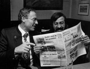 Max von Heckel und Günter Grass im Wahlkampf (Foto: Verlag Münchner Post).