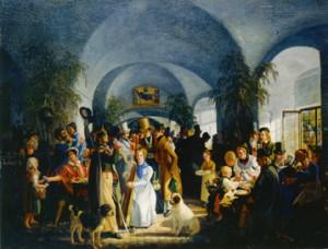Münchner Bockkeller am Platzl. Hier wurde das im benachbarten Hofbräuhaus gebraute Bockbier ausgeschenkt (Bild: Münchner Stadtmuseum).