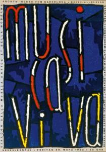 musica viva-Plakat, das 1962 zahlreiche Besucher anlocken sollte (Foto: Karl-Amadeus-Hartmann-Gesellschaft)